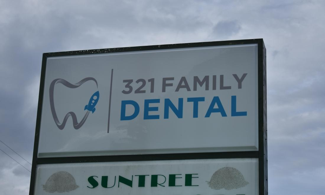 321 Family Dental Enlarged Sign